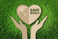 Räddning världsbegreppet Royaltyfria Bilder