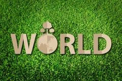 Räddning världsbegreppet Arkivbild
