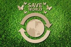 Räddning världsbegreppet Royaltyfri Bild