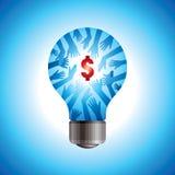 Räddningenergi och pengarbegrepp Arkivfoto