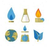 Räddninggas för jordsymbolen - Arkivbild