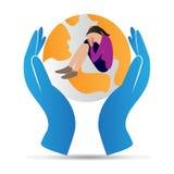 Räddningkvinna royaltyfri illustrationer
