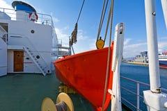 Räddningsaktionfartyg arkivfoto