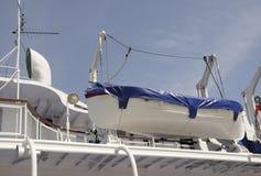 Räddningsaktionfartyget ombord skeppet Royaltyfria Foton