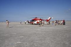 Räddningsaktionhelikopter Arkivbild