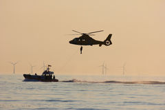 Räddningsaktionhelikopter Arkivfoton