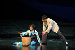 RäddningsaktionJiangxi opera en besman Royaltyfri Fotografi