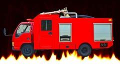 Räddningsaktionlastbil för röd brand Royaltyfri Foto