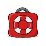 Räddningsaktionpåseillustration Arkivbilder