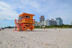 Räddningsaktiontorn, Miami Beach Arkivbild