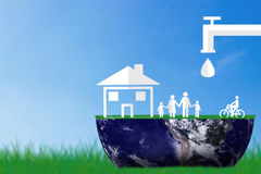 Räddningvattenbegrepp, världsvattendag Royaltyfria Bilder