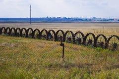 Räder auf dem Feld Lizenzfreie Stockbilder