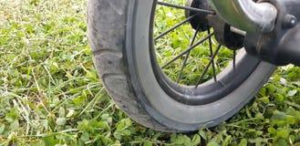 Räder auf einem Pram stockbild