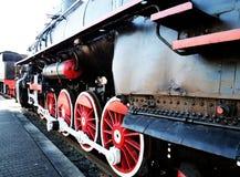 Räder der Dampflokomotive Stockfoto