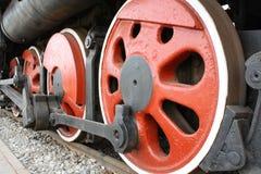 Räder der Dampfmaschine Stockfotos