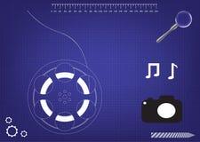 Räder des Modells 3d für einen Film lizenzfreie abbildung