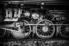 Räder einer alten Dampflokomotive Lizenzfreie Stockfotos