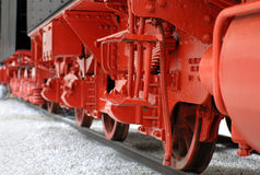 Räder einer Lokomotive lizenzfreie stockfotografie