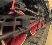 Räder, Lokomotive Stockbild