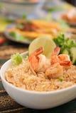 Räka stekte ris Fotografering för Bildbyråer