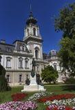 Räkna den Gyorgy Laszlo Festetics de Tolna statyn, den Festetics slotten, Keszthely, Ungern Arkivfoton