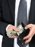 räkna dollar oss Royaltyfria Foton