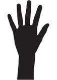 räkna hand fem Royaltyfri Bild