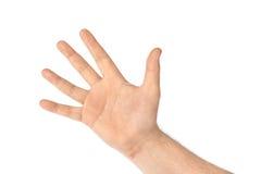 räkna hand fem Arkivfoton