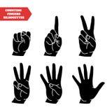 Räkna handuppsättningen vektor illustrationer