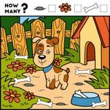 Räkna leken för barn Bilda lek Hund och bakgrund stock illustrationer