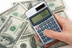 räkna pengar Arkivbilder