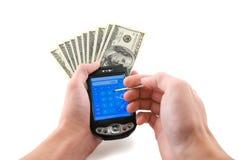 räkna pengar arkivfoton