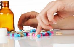 räkna pills Royaltyfria Foton