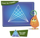 Räkna trianglarna Royaltyfria Bilder