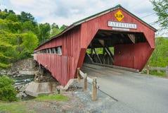 Räknad bro i Taftsville Vermont fotografering för bildbyråer