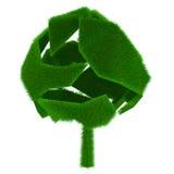 räknad gräsgreentree royaltyfri illustrationer