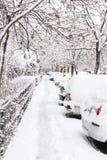 räknad snowgata Royaltyfria Foton