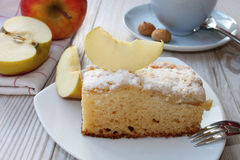 räknade geléskivor för äpple cake Arkivfoto