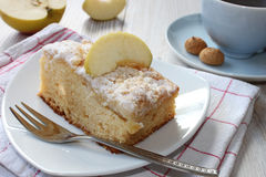 räknade geléskivor för äpple cake Royaltyfri Bild