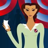 räknar henne röstar Arkivbild