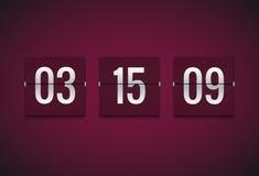 Räknare för nedräkningtidmätareklocka Mall för Flipvektortidmätare Information om skärm av minuten, timme Information om funktion vektor illustrationer