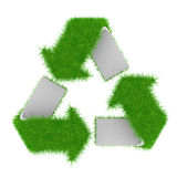 räknat grönt återanvändande symbol för gräs Royaltyfri Bild