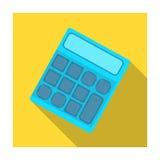 Räknemaskin Maskin som snabbt räknar data math Enkel symbol för skola och för utbildning i plant materiel för stilvektorsymbol stock illustrationer