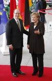 Räkning Albert II av Monaco Angela Merkel Royaltyfri Foto