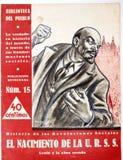Räkning av tidskriften födelsen av Uen r S S Spanskt borgerligt warilkrig royaltyfri illustrationer