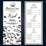 Räkning för backgroud för mall för ingredienser för matmenypizza ny med Royaltyfria Foton