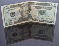 räkning för dollar 20 royaltyfri fotografi