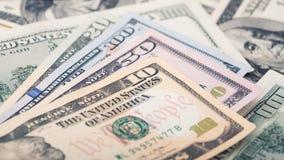 Räkning för dollar för pengar tjugo för Closeup amerikansk Alexander Hamilton stående, USA makro för 10 dollar sedelfragment Royaltyfri Bild