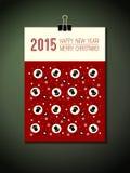 räkning för 2015 kalender 2015 lyckligt nytt år, att gifta sig Arkivfoto