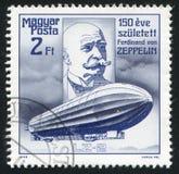 Räkning Ferdinand von Zeppelin arkivfoton